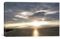 Sun Set on the Humber, Canvas Print