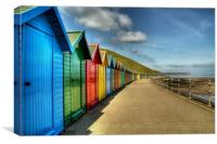 Whitby Beach Huts, Canvas Print