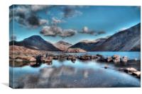 Wastwater on the Rocks, Canvas Print