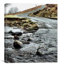 Dalby Forest Ford, Canvas Print