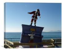 Santa in the South of France, Canvas Print
