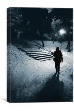 Winter walk, Canvas Print