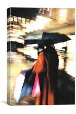 Umbrela woman, Canvas Print