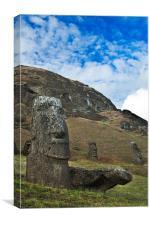 Moai Quarry, Easter Island, Canvas Print