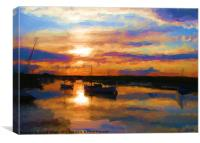 Magic Waters: River Overy at Burnham, Canvas Print