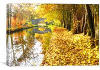 The Shropshire Union Canal, Ellesmere, Canvas Print