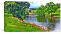 Bolton Abbey and the River Wharfe, Canvas Print