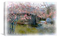 Iron Bridge in Spring, Canvas Print