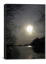 A lake in Stoke, Canvas Print