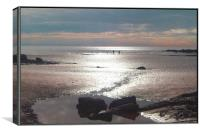 Twilight Beach, Canvas Print