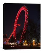 London's Big Eye and Small Ben, Canvas Print