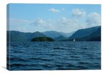 Sailing on Derwent Water, Canvas Print