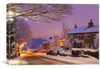 Night snow, Canvas Print