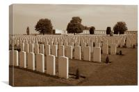 Tynecot Cemetry Ypres, Canvas Print