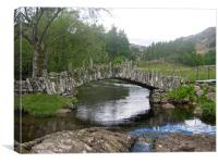 Slaters Bridge, Little Langdale, Canvas Print