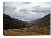 Glen Docherty, Scottish Highlands, Canvas Print
