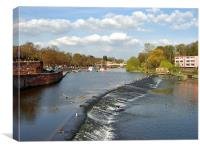 The River Dee, Chester, Canvas Print