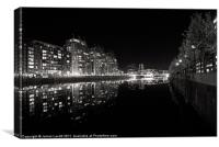 Salford Quays Reflections, Canvas Print