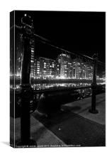 Salford Quay Hand Rails, Canvas Print