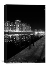 The Lights Of Salford Quays, Canvas Print
