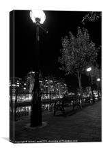 Lamp Stand At the Quays, Canvas Print