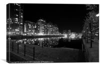 Across The Quay - Salford, Canvas Print