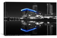 BBC Building Salford Quays, Canvas Print