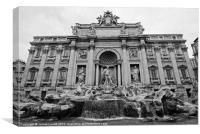 Rome's Trevi Fountain, Canvas Print