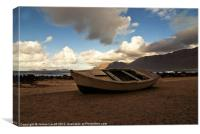 Beached Boat, Canvas Print