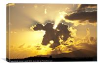 Sunburst Over Lanzarote, Canvas Print