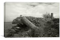 Bedruthan Fence post, Canvas Print
