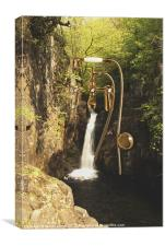 Showery Stream, Canvas Print