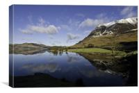 Reflections of Crummock Water, Canvas Print