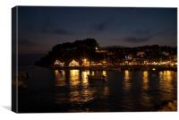 Parga harbour, Canvas Print