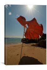Broken Sunshade, Canvas Print