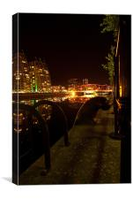 Salford Quays By Night, Canvas Print