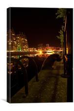 Salford Quays By Night, Canvas Print