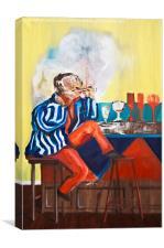 Smoker, Canvas Print