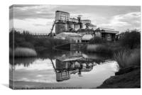 Salt Works, Canvas Print