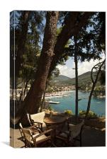 Seats Over Parga Bay, Canvas Print