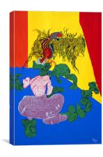 Acrylic Dancer, Canvas Print