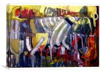 Bar Scene, Canvas Print