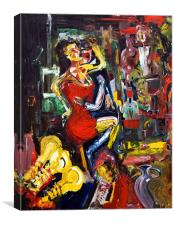 Wine Woman & Music, Canvas Print