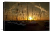 Whitstable Dinghy Club Sunset, Canvas Print