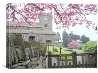The Church - Hawkshead, Canvas Print