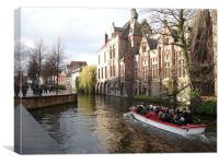 Canals of Bruges, Canvas Print
