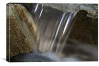 Lansallos Mini Waterfall, Canvas Print