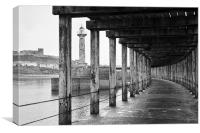 Whitby Pier, Canvas Print