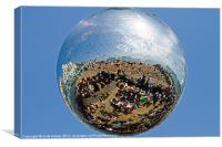 Brighton beach disco ball., Canvas Print