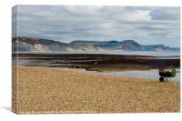 Lyme Regis Beach, Canvas Print